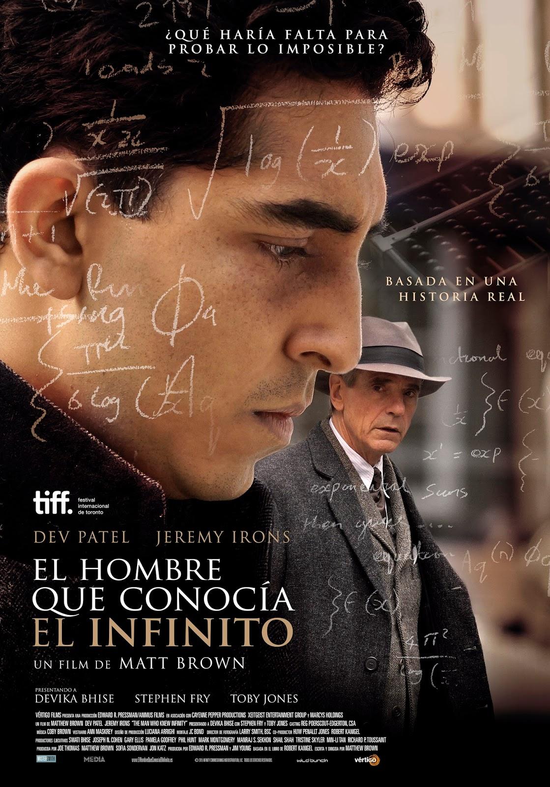 Enroque de ciencia: 'El hombre que conocía el infinito (2016)'