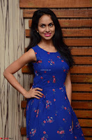 Pallavi Dora Actress in Sleeveless Blue Short dress at Prema Entha Madhuram Priyuraalu Antha Katinam teaser launch 025.jpg