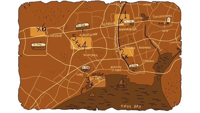 mapa de los gigantes de dinamarca