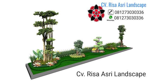Tukang Taman Surabaya, Jasa Desain Pembuatan Taman Di Surabaya, Kolam Waterwall Minimalis Koi, Relief Tebing, Taman Dinding / Vertikal, Roof Garden.
