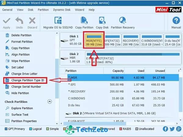 Hướng dẫn tạo phân vùng boot EFI, MSR, Recovery chuẩn UEFI - GPT
