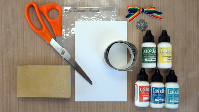 Adding Color to Embossed Foil Tape Supplies