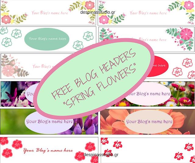 Δωρεάν headers για το μπλογκ σου με θέμα την Άνοιξη και τα λουλούδια