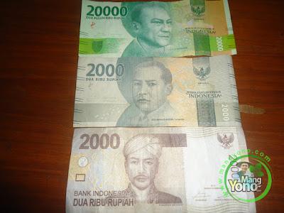 FOTO 1 : Pedagang : Uang Baru Rp 20.000 Suka Terkecoh Dengan Rp 2.000