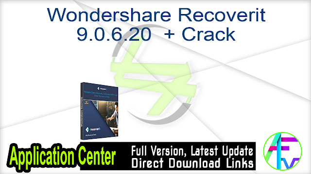 Wondershare Recoverit 9.0.6.20  + Crack