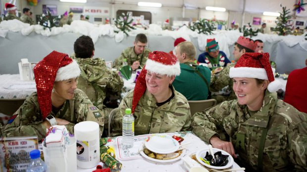 Christmas previously celebrated at Camp Bastion, Afghanistan (Picture; REX/Shutterstock)