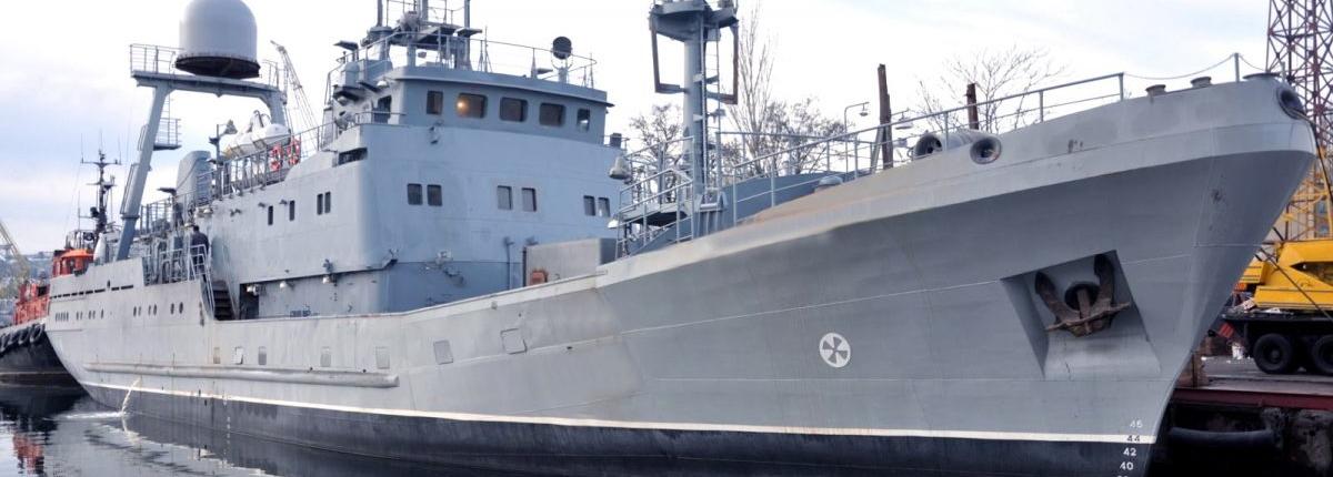 Новозбудований розвідувальний корабель ВМСУ вийшов у море на випробування