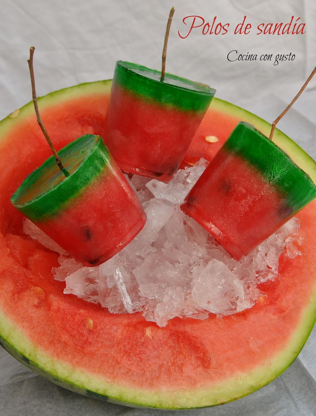 polos de sandia y melon