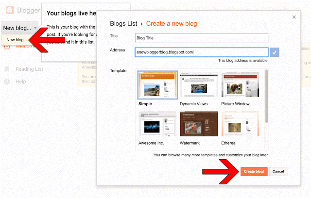 How To Create A Free Blog On Google's BlogSpot Platform 2017 (UPDATED) 3