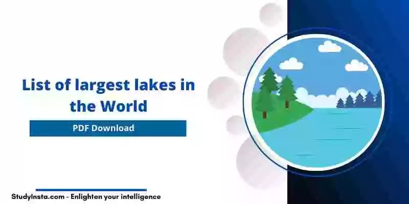List of largest lakes in the World