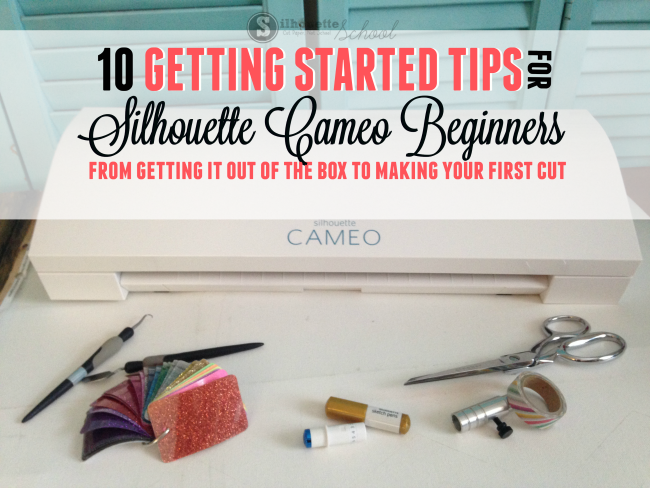Silhouette Cameo Beginners Getting Started First Cut