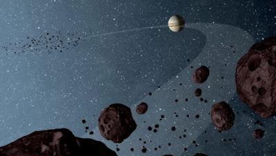 asteroides lanzados por Jupiter y su impacto devastador sobre la Tierra