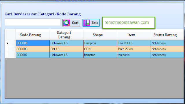 CARA MEMBUAT FUNGSI CARI/SEARCH DENGAN VB.NET