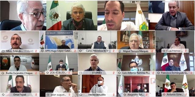 """Paciencia y """"disciplina necesaria"""" pide la SEGOB a gobernadores de la CONAGO. Twitter CONAGO"""