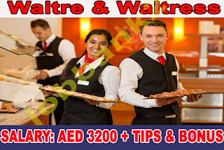Waiter / Waitress Required for Resort & spa in Dubai and Sharjah