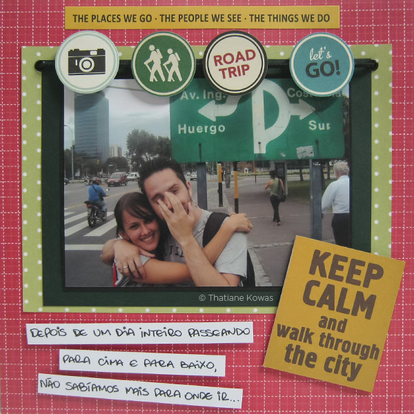 página álbum scrapbook keep calm