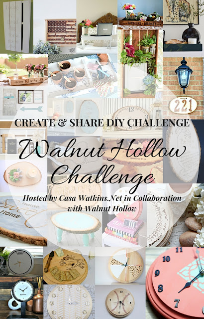 create and share diy challenge sponsored by Walnut Hallow