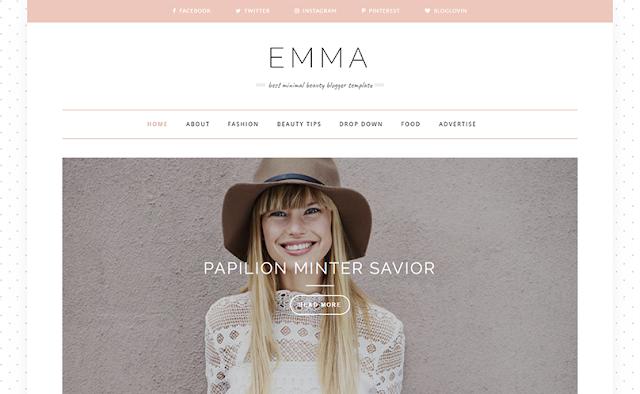 Emma Modern Personal Blogger Template