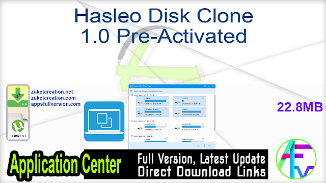 Hasleo Disk Clone 1.0 Pre-Activated