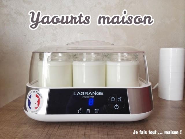 Recette de base des yaourts