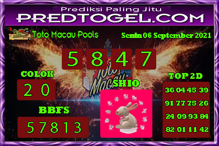 Pred Macau Senin 06 September 2021