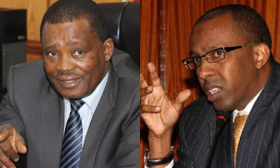 Justin Muturi and Lawyer Ahmend on twitter war over BBI