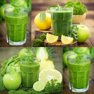 Licuados y batidos verdes saludables para adultos