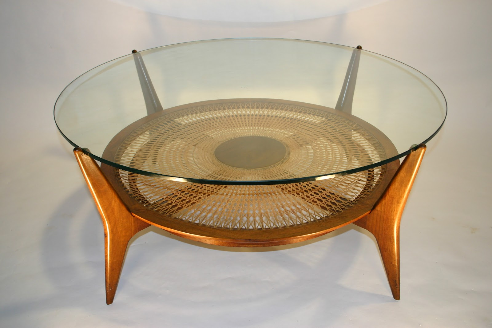cercis: Danish Walnut/Glass Coffee Table