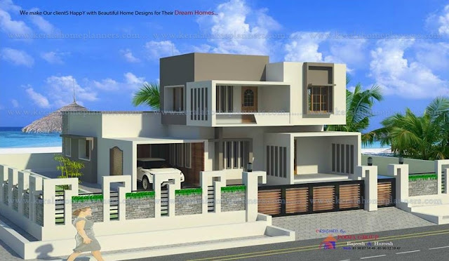 4 bedroom indian house plans, kerala style double floor house plans and elevations