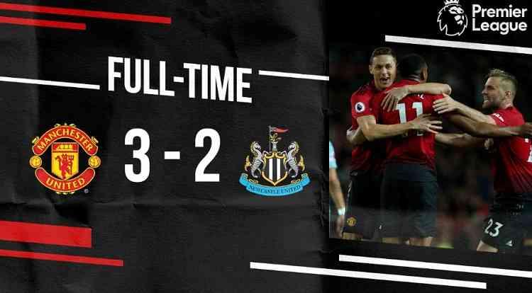 Hasil Manchester United vs Newcastle Skor Akhir 3-2