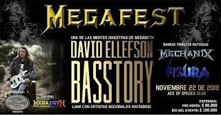 MEGAFEST - Concierto DAVID ELLEFSON en  Colombia