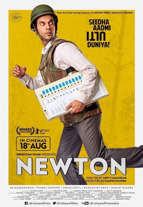 Newton hindi movie first look, Poster of Rajkumar Rao download first look Poster, release date