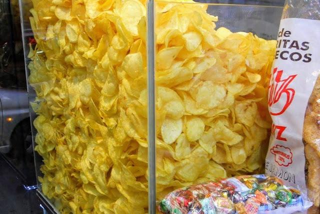 3 days in Madrid: fresh papas fritas (potato chips)