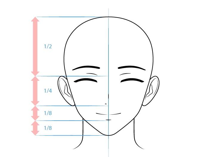 Gambar wajah konten karakter pria yang ramah anime