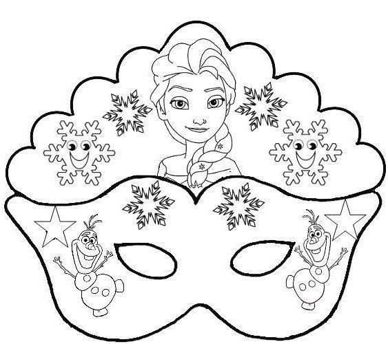 Elsa and Olaf: Free Printable Mask Template