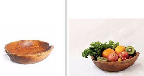Tinuku Bc5758 studio presenting oval bowl documenting natural process tree roots