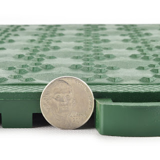 Greatmats ErgoMatta CusthinTred plastic anti fatigue basement tiles