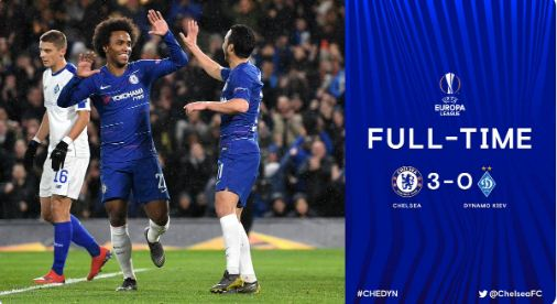 Chelsea vs Dynamo Kiev 3-0 Highlights
