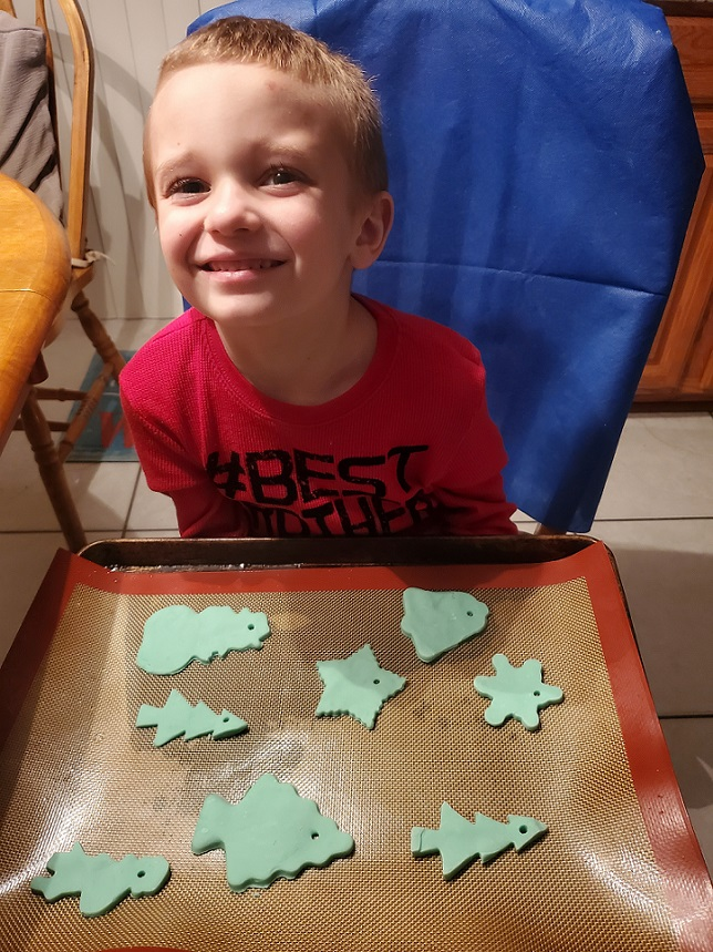 Antonio make clay dough ornaments