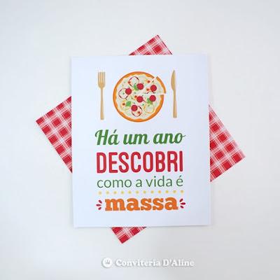 poster personalizado pizzaria festa decoracao