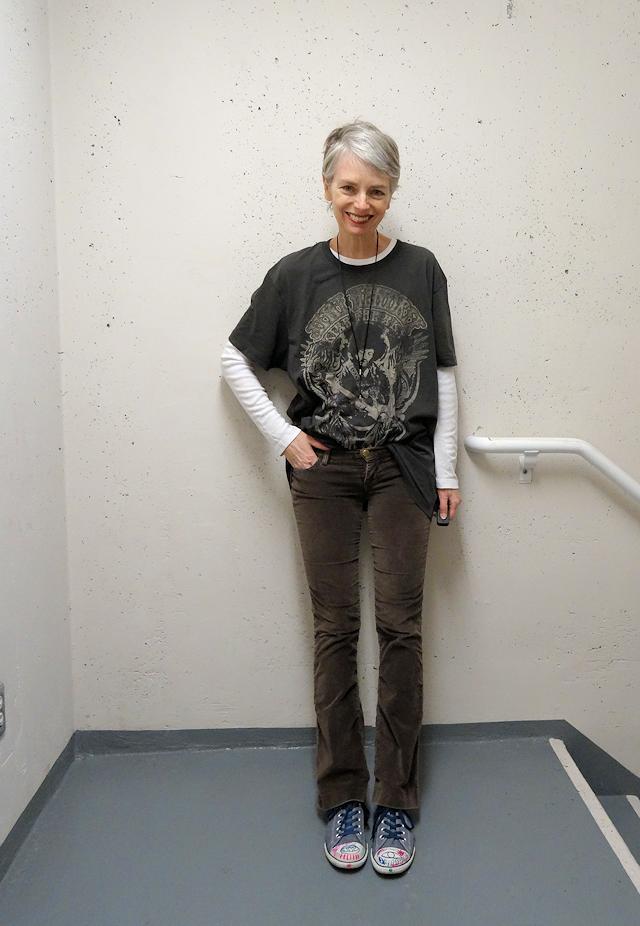tomboy style, punky grey hair, Mel Kobayashi
