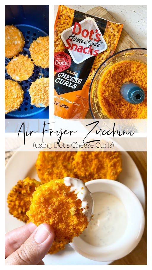 Air Fryer Zucchini (using Dot's Cheese Curls)