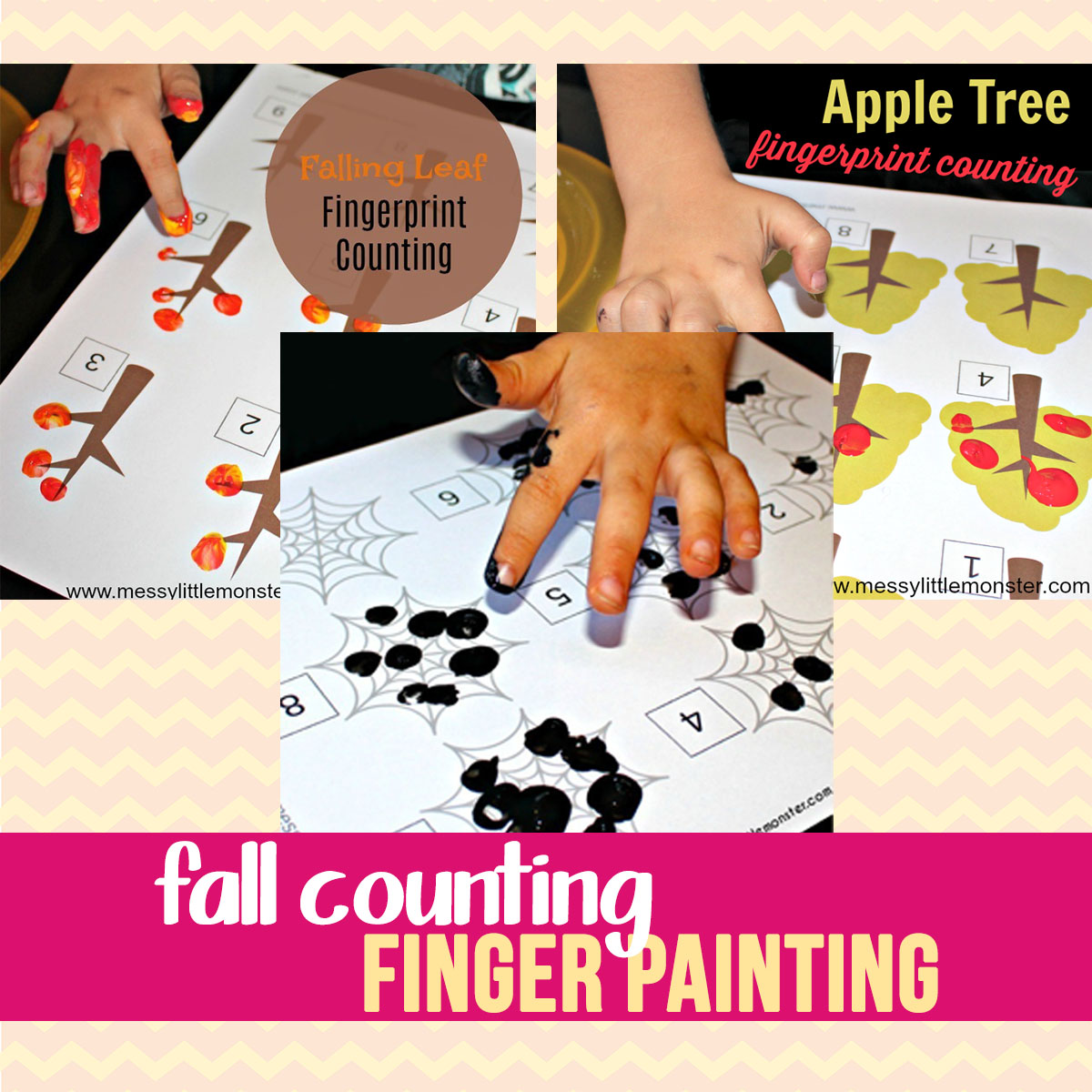 fall themed fingerprint counting activities