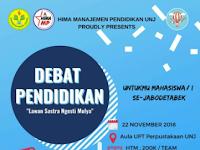 Kompetisi Debat Mahasiswa Jabodetak 2018 di UNJ