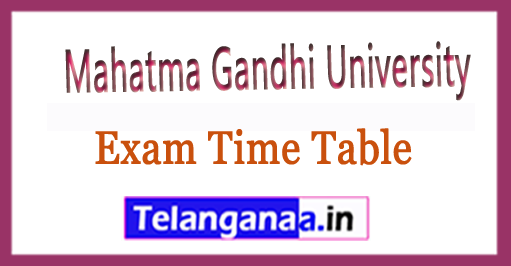 MGU Degree 1st Year 1st Sem Exam Time Table 2018