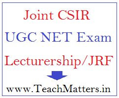 image : Joint CSIR UGC NET June 2020 @ TeachMatters