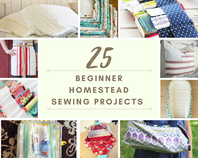 25 Beginner Sewing Projects for the Homestead