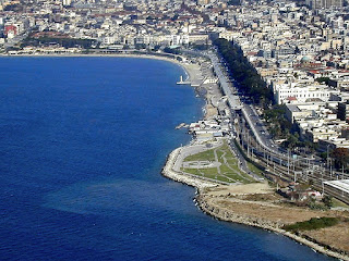A sweeping waterfront is a feature of modern day Reggio  Calabria, which had to be rebuilt after the 1908 earthquake
