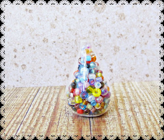 image diy miniature christmas bauble ornament tutorial beaded fill the bottle with beads or glitter