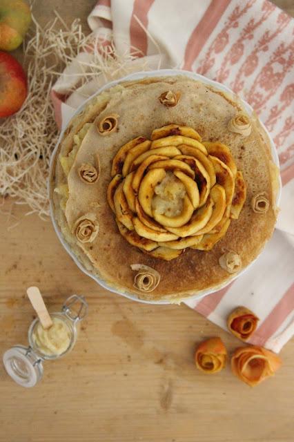 Gâteau de crêpes aux pommes (vegan)